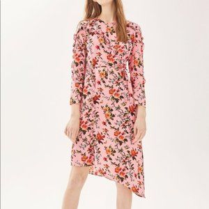 Topshop Pink Floral Dress - Size 6 Small / Medium